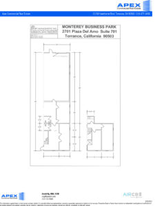 2701 Plaza Del Amo, Suite 701, Torrance CA 90503 floor plan