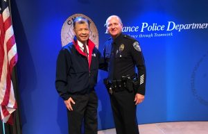 Arnold Ng at the Torrance Area Chamber of Commerce event honoring Torrance Police Department