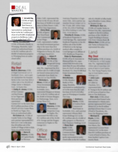 Arnold Ng selected as Deal Maker in CCIM magazine