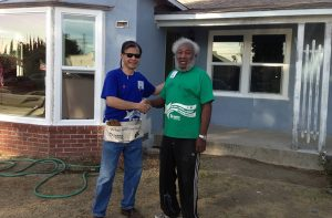 Arnold Ng of Apex volunteering with Habitat for Humanity
