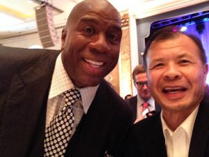 Arnold Ng of Apex Commercial Real Estate with Magic Johnson