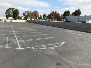 paved parking lot in Torrance available for sublease